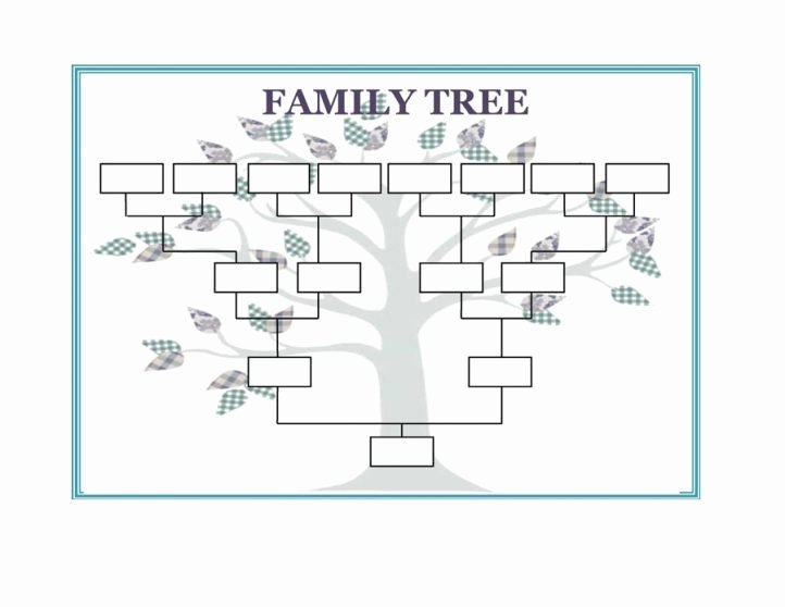 Free Family Tree Template Unique Family Tree Template