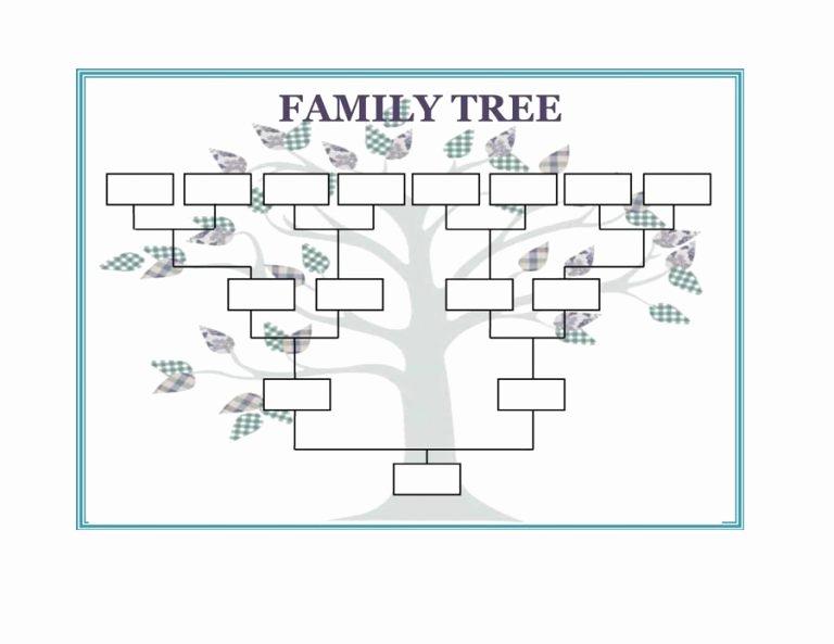 Free Family Tree Templates Fresh Family Tree Template Word