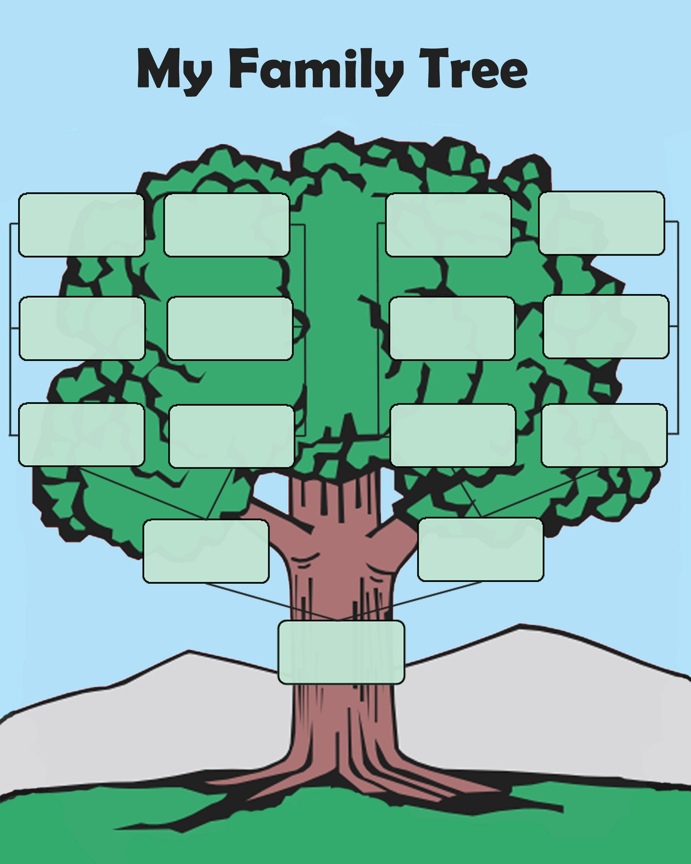 Free Family Tree Templates Inspirational Free Editable Family Tree Template Daily Roabox