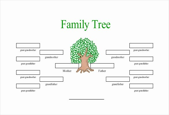 Free Family Tree Templates Lovely Simple Family Tree Template 25 Free Word Excel Pdf