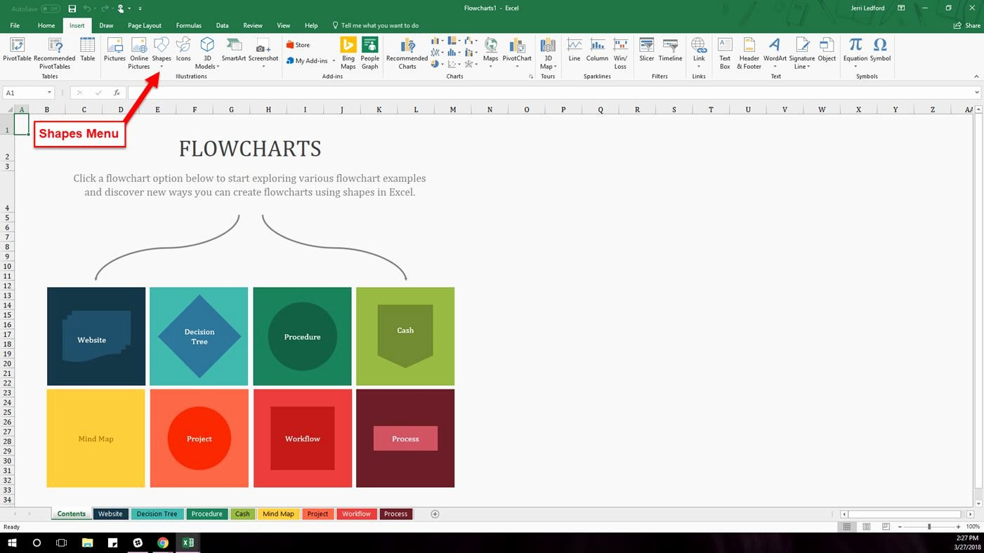 Free Flow Chart Template Excel Luxury How to Find and Use Excel S Free Flowchart Templates