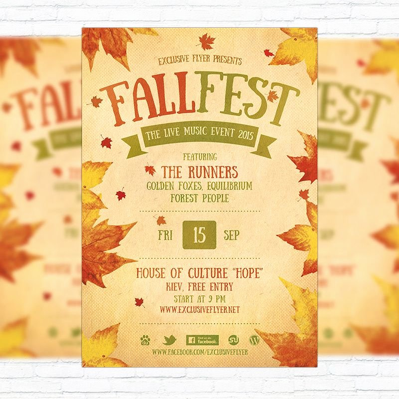 Free Flyer Templates Microsoft Word Awesome Fall Festival Flyer Template Printable Flyers In Word