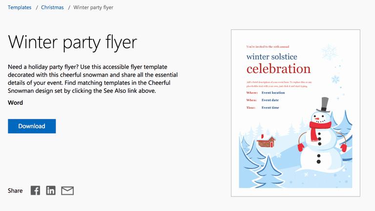 Free Flyer Templates Microsoft Word Fresh Free Winter Microsoft Templates for Mac and Windows
