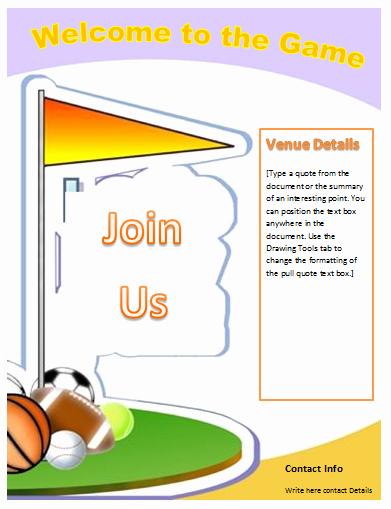Free Flyer Templates Microsoft Word Inspirational Sports Flyer Template Microsoft Word Templates