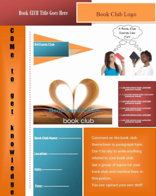 Free Flyer Templates Microsoft Word New Book Club Flyer Template