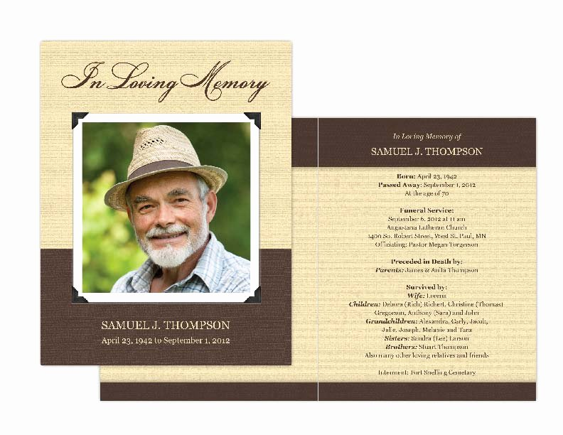 Free Funeral Card Template Beautiful Memorial Cards Memorial Programs and Memorial Bookmarks