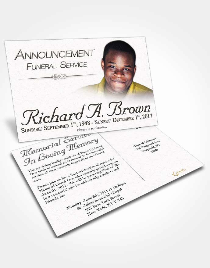 obituary template trifold brochure free bliss