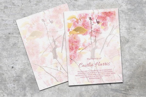 Free Funeral Card Template Elegant 6 Funeral Thank You Cards Word Psd Ai Illustrator