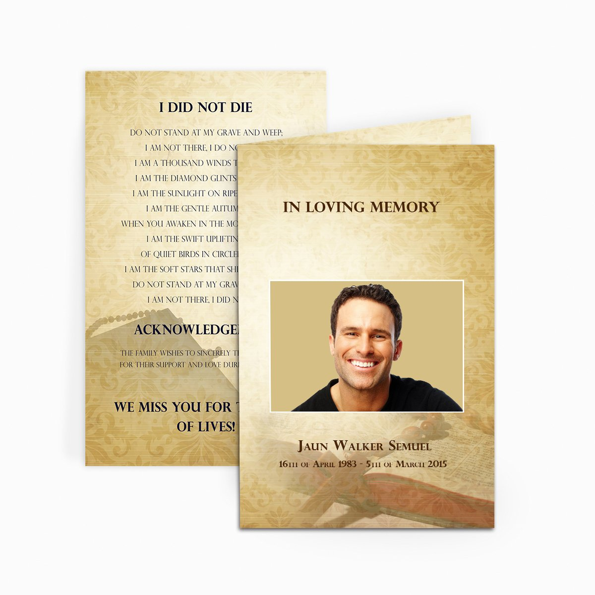 Free Funeral Card Template Elegant Bible Funeral Card