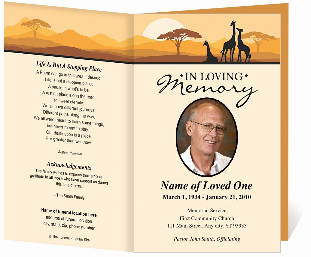 Free Funeral Card Template Elegant Free Funeral Program Template