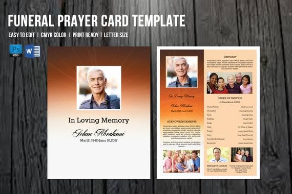 Free Funeral Card Template Luxury Funeral Program Template Funeral Card Template Memorial