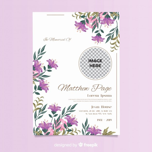 Free Funeral Card Template New Funeral Card Template Vector