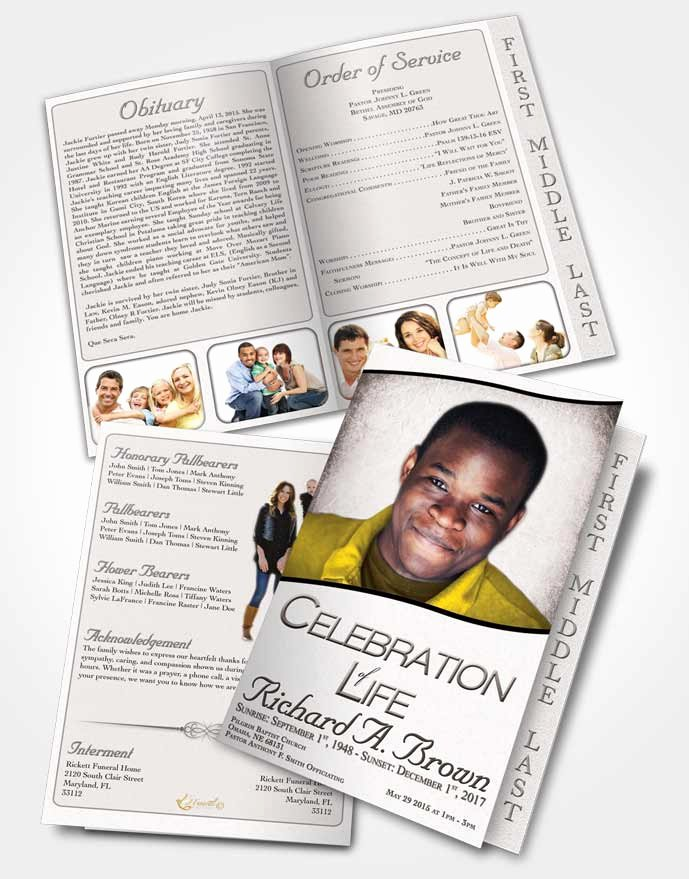 Free Funeral Program Templates Beautiful 2 Page Graduated Step Fold Funeral Program Template