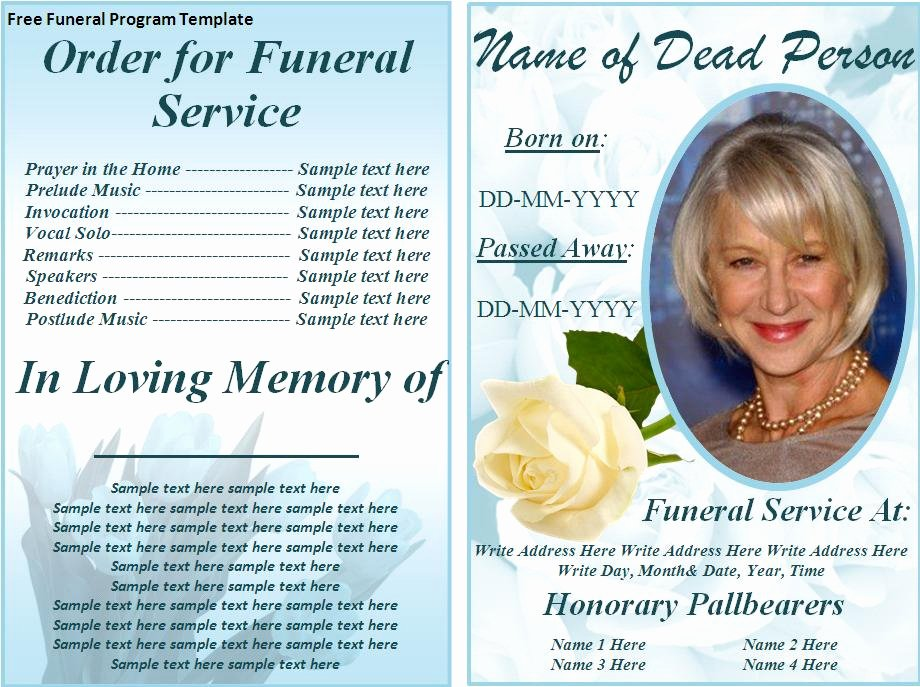 Free Funeral Program Templates Beautiful Card Template Category Page 1 Brsata