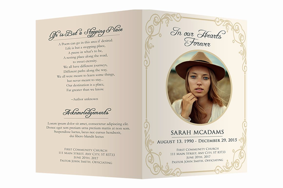 Free Funeral Program Templates Beautiful Funeral Program Template Brochure Templates Creative