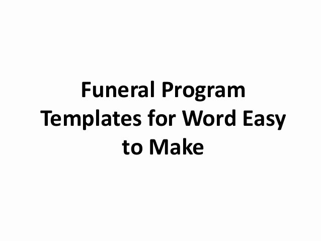 Free Funeral Program Templates Fresh Free Printable Funeral Program Template for Word to Download