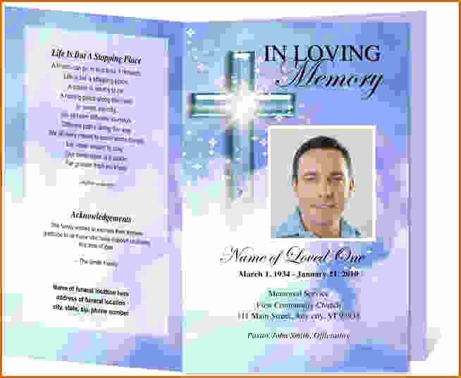 Free Funeral Program Templates Lovely 12 Free Printable Funeral Program Template