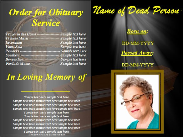 Free Funeral Program Templates Lovely Funeral Obituary Template 25 Free Word Excel Pdf Psd