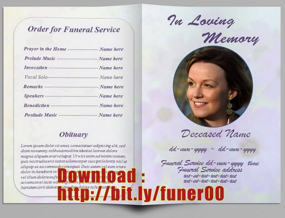 Free Funeral Program Templates Luxury Pin by Free Funeral Program Template On Free Memorial