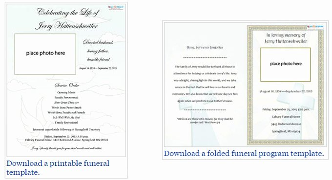 Free Funeral Program Templates Unique Our Favorite Actually Free Funeral Program Templates