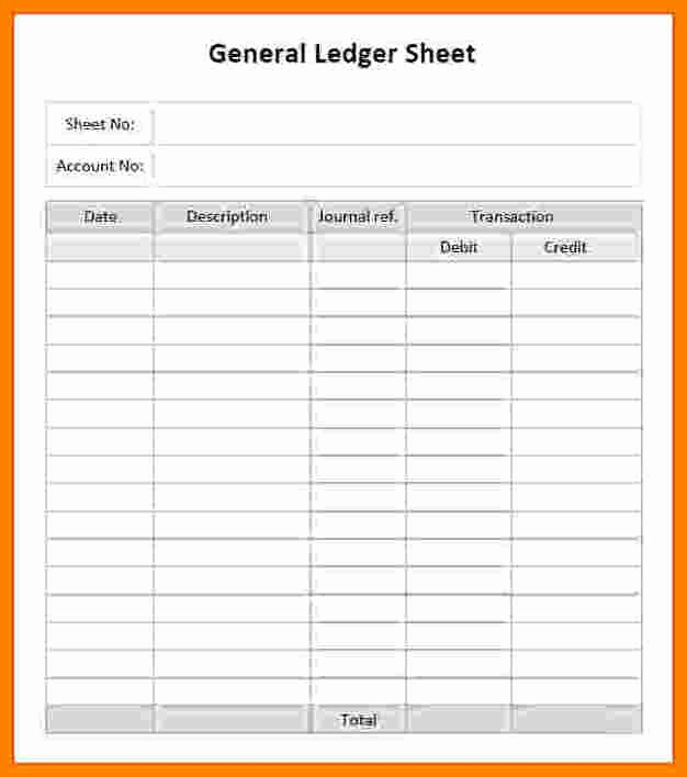 Free General Ledger Template Awesome 10 Free General Ledger form