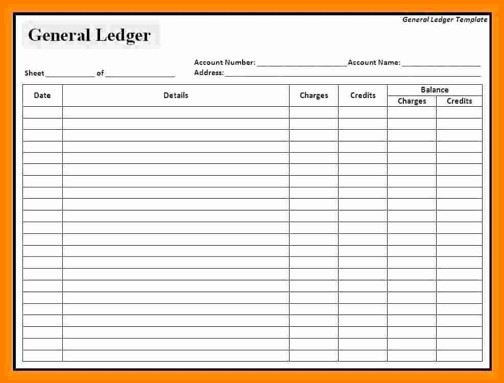 Free General Ledger Template Awesome 5 Accounts Ledger Template