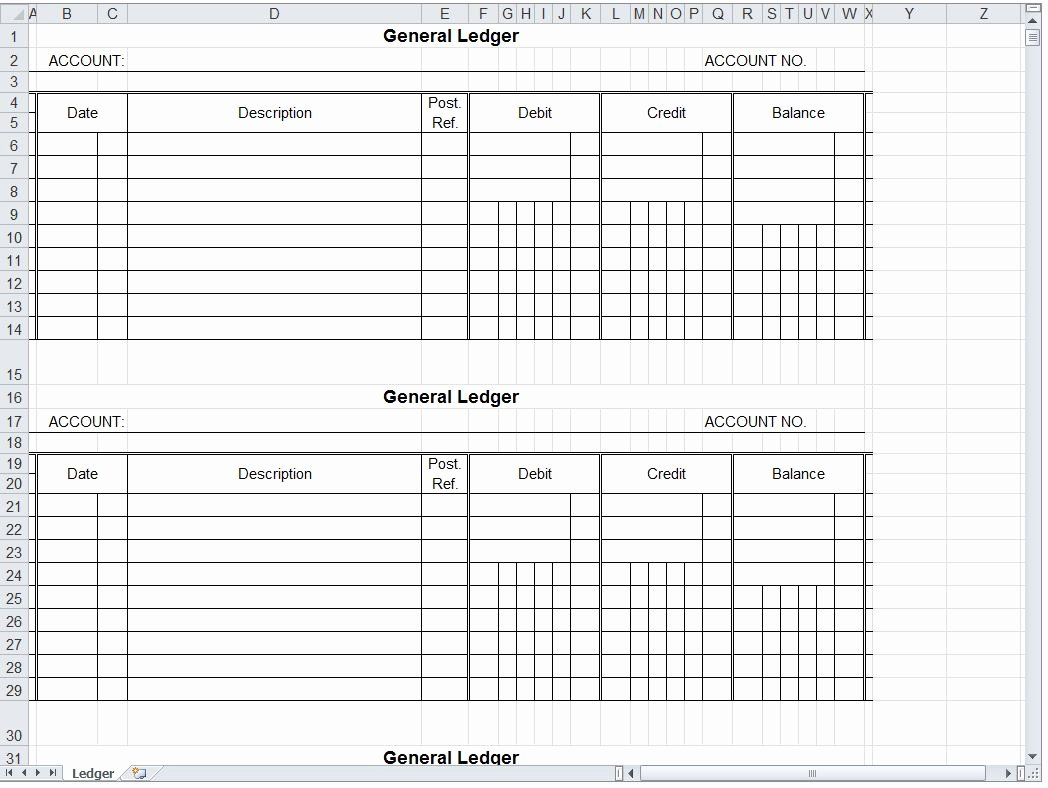 Free General Ledger Template Best Of Download Business Ledger Templates Microsoft