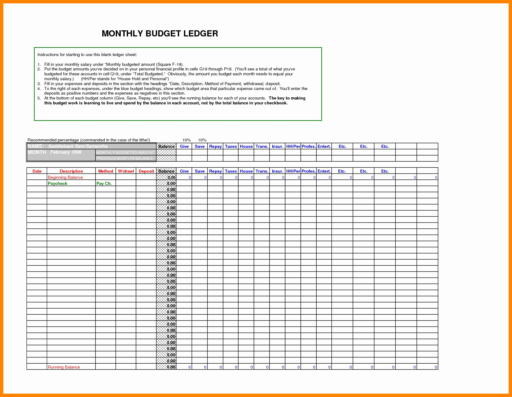 Free General Ledger Template Inspirational 5 Free Ledger Template Excel