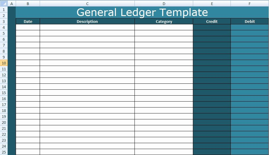 Free General Ledger Template Inspirational General Ledger Template Excel Xls Free Excel