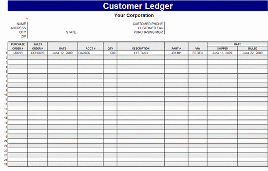 Free General Ledger Template Inspirational General Ledger Template