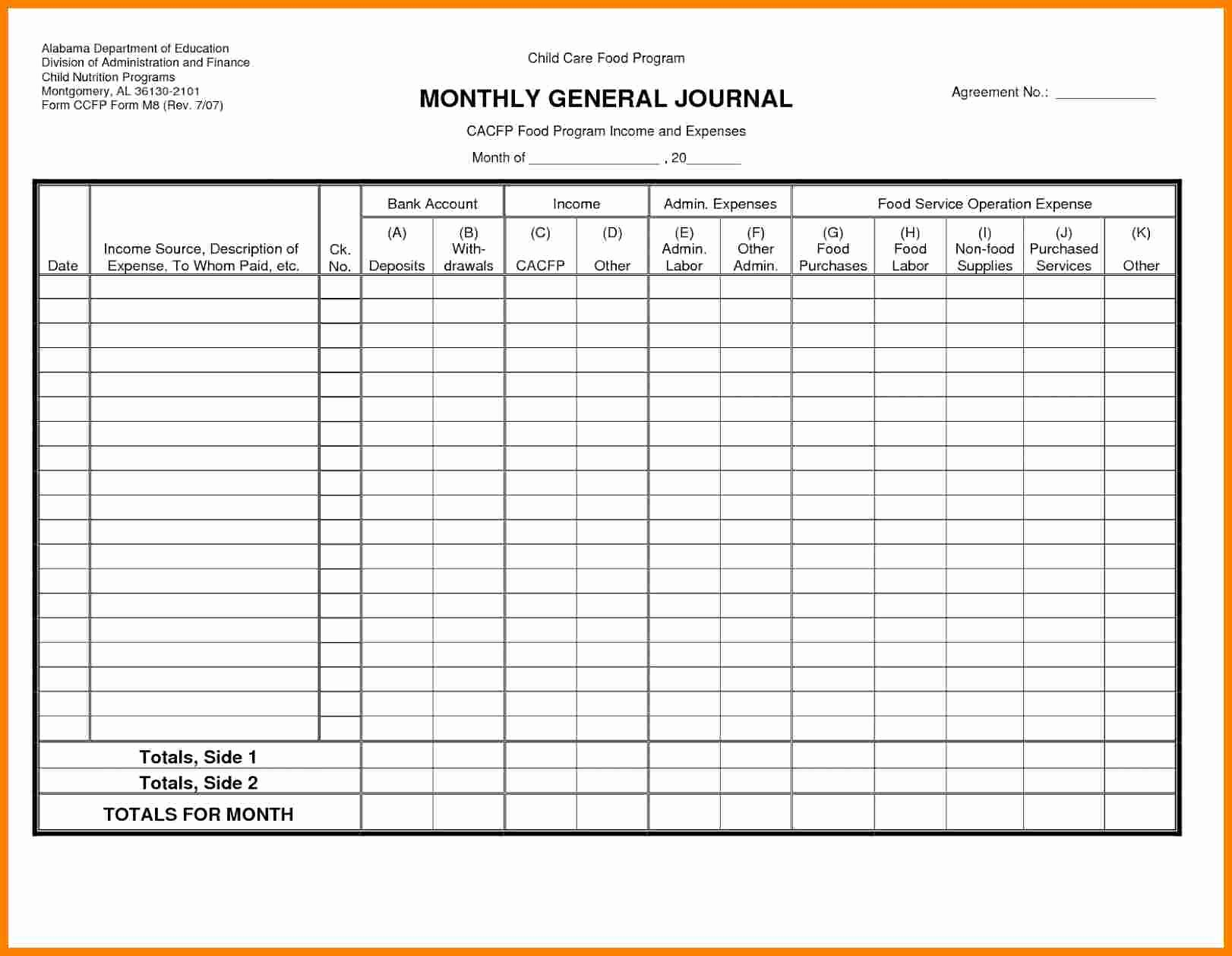 Free General Ledger Template Luxury 7 Free Business Ledger Template