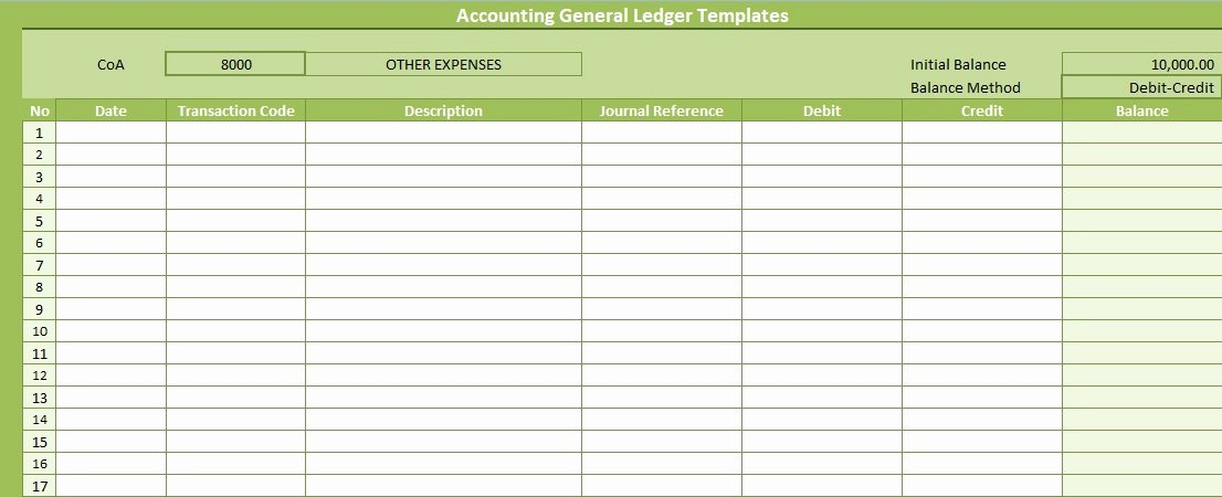Free General Ledger Template New Accounting General Ledger Templates Free