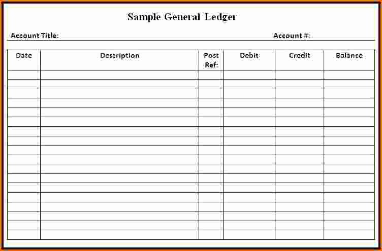 Free General Ledger Template New General Ledger Template