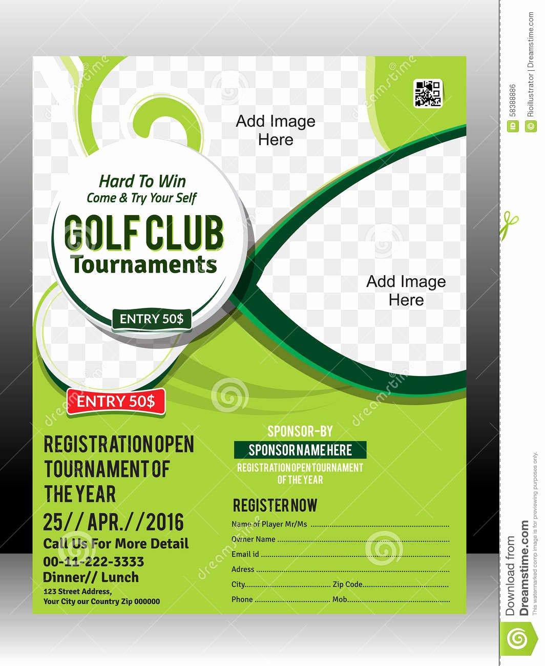 Free Golf tournament Flyer Template Beautiful Free Golf tournament Flyer Template