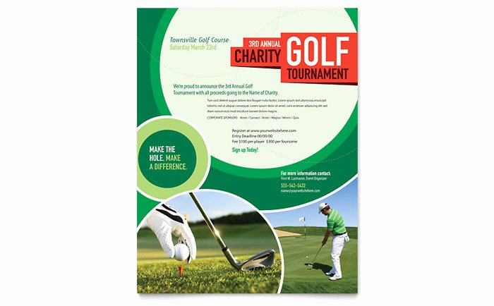 Free Golf tournament Flyer Template Best Of Golf tournament Flyer Template Design