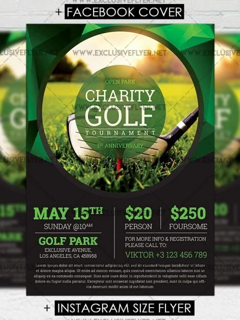 Free Golf tournament Flyer Template Best Of Golf tournament – Premium A5 Flyer Template