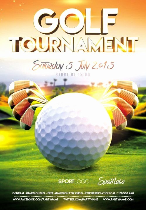 Free Golf tournament Flyer Template Elegant 14 Awesome Golf tournament Flyer Psd Images