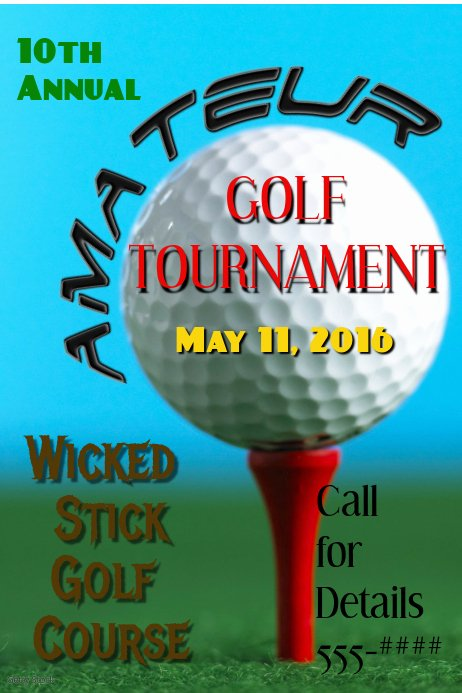 Free Golf tournament Flyer Template Elegant Golf tournament Template