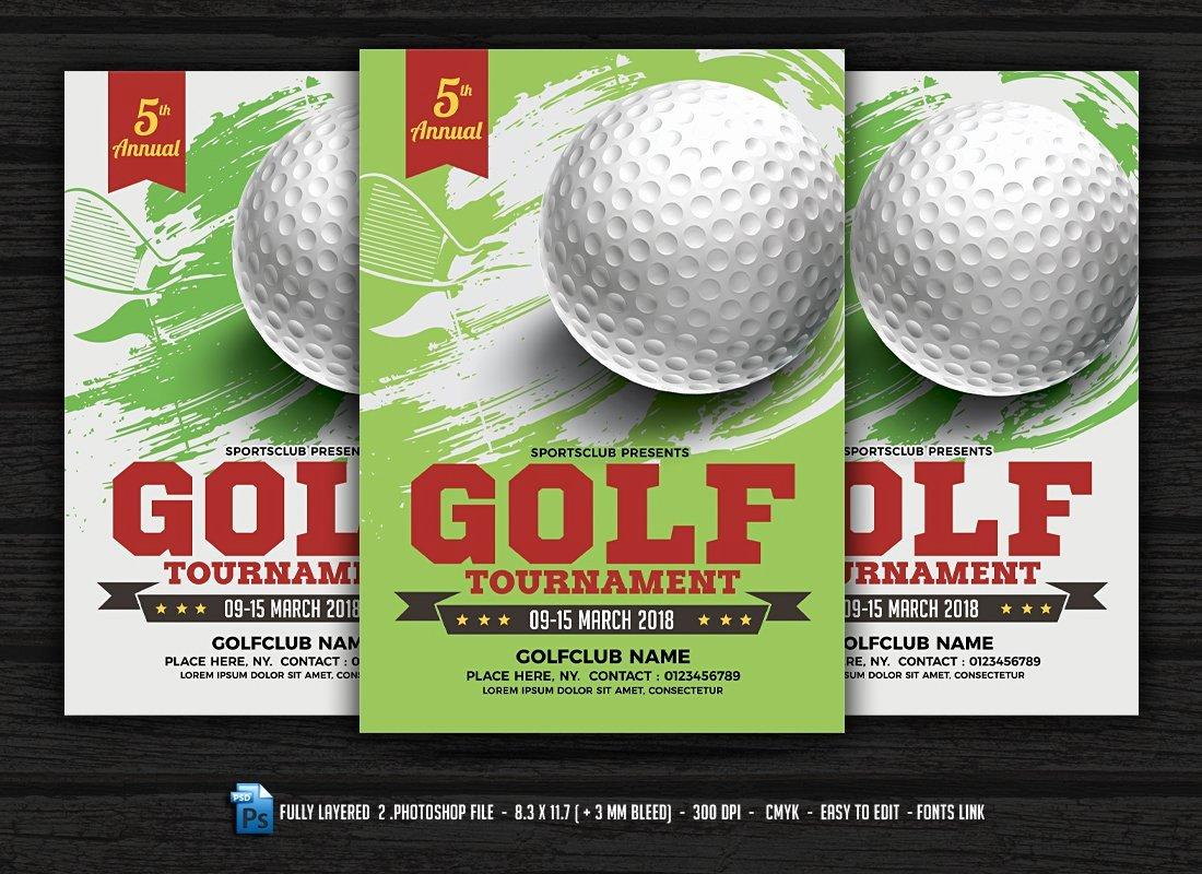 Free Golf tournament Flyer Template Fresh Golf tournament Flyer Flyer Templates Creative Market