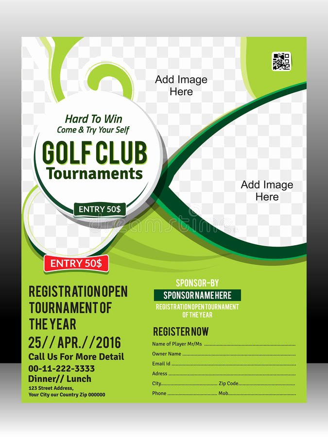 Free Golf tournament Flyer Template Inspirational Golf tournament Flyer Template Design Illustration Stock