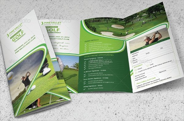 Free Golf tournament Flyer Template Lovely Golf tournament Brochure 20 Download In Vector Eps Psd