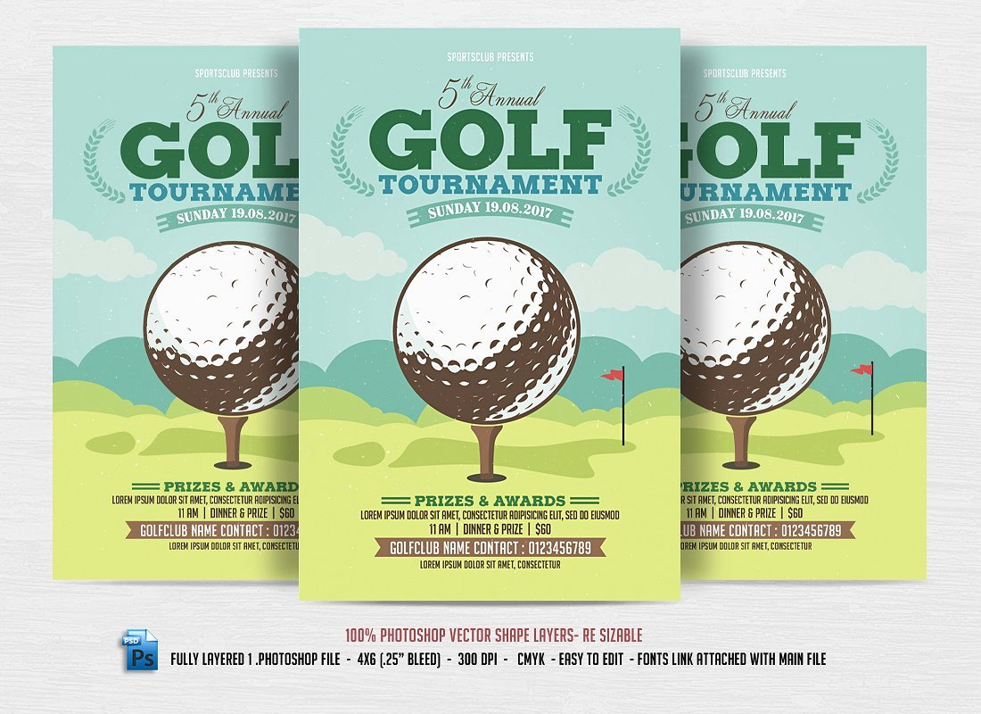 Free Golf tournament Flyer Template Luxury 24 Sports event Flyers Templates Word Ai Psd Apple