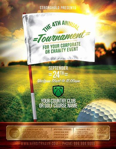Free Golf tournament Flyer Template New Golf tournament event Flyer Template On Behance