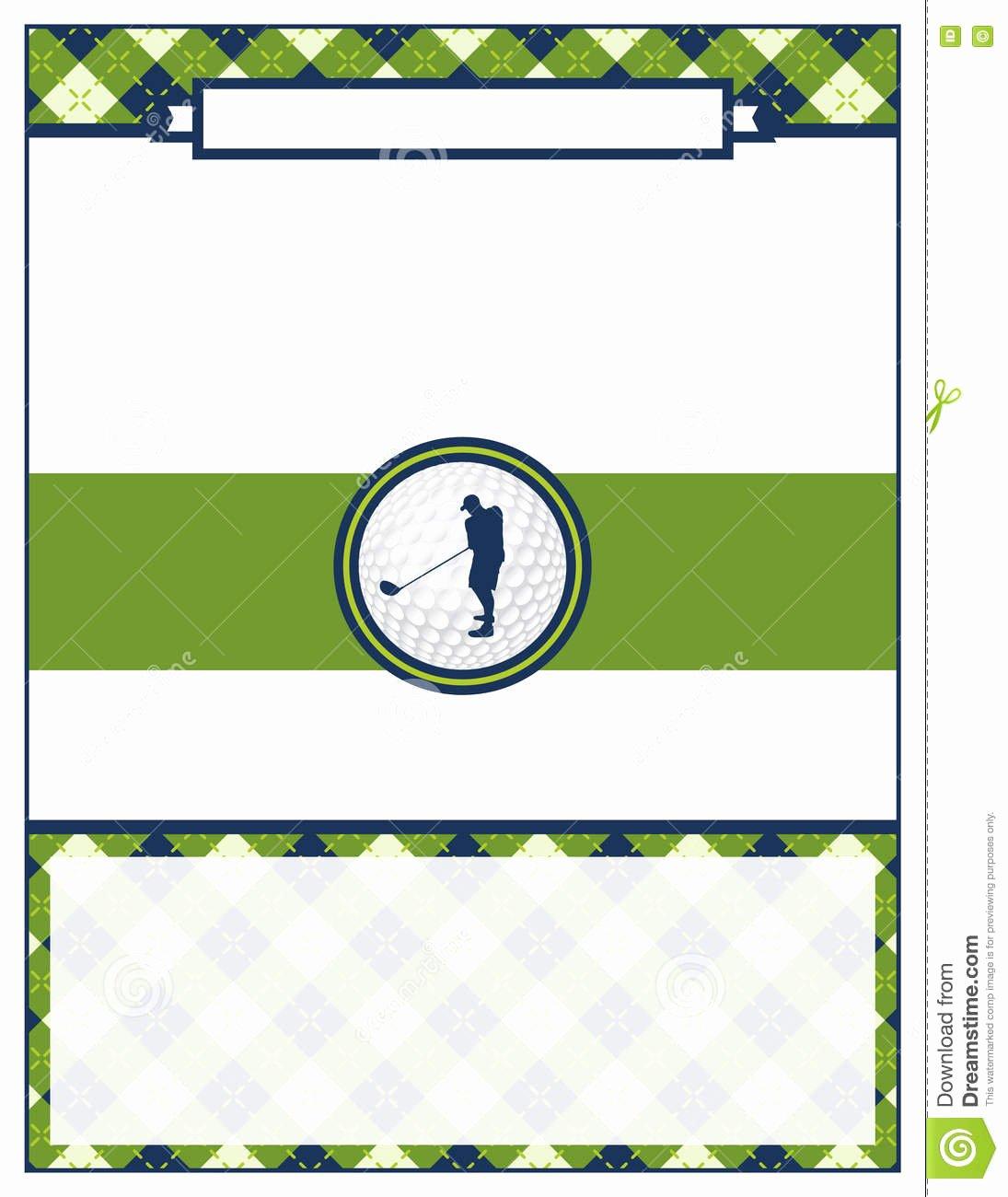 Free Golf tournament Flyer Template New Golf tournament Flyer Blank Template Stock Vector Image