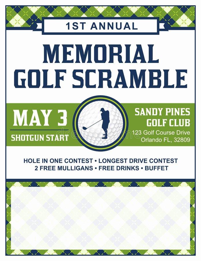 Free Golf tournament Flyer Template Unique Golf tournament Flyer Template Stock Vector Illustration