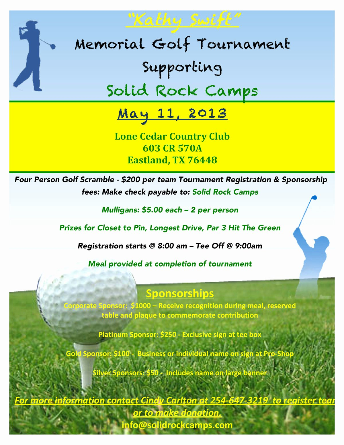 Free Golf tournament Flyer Template Unique Kathy Swift Memorial Golf tournament May 11 Microplexnews