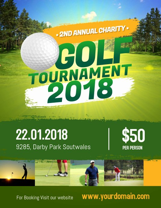 Free Golf tournament Flyers Templates Awesome Charity Golf tournament Flyer Poster Template