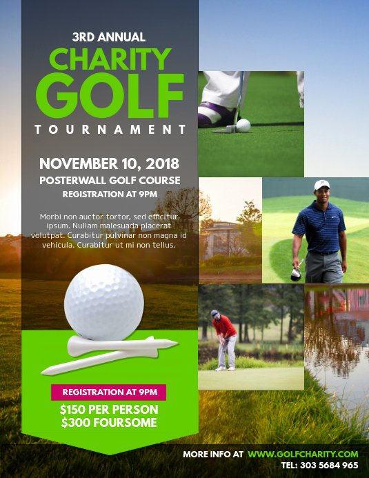 Free Golf tournament Flyers Templates Awesome Customize 260 Golf Templates