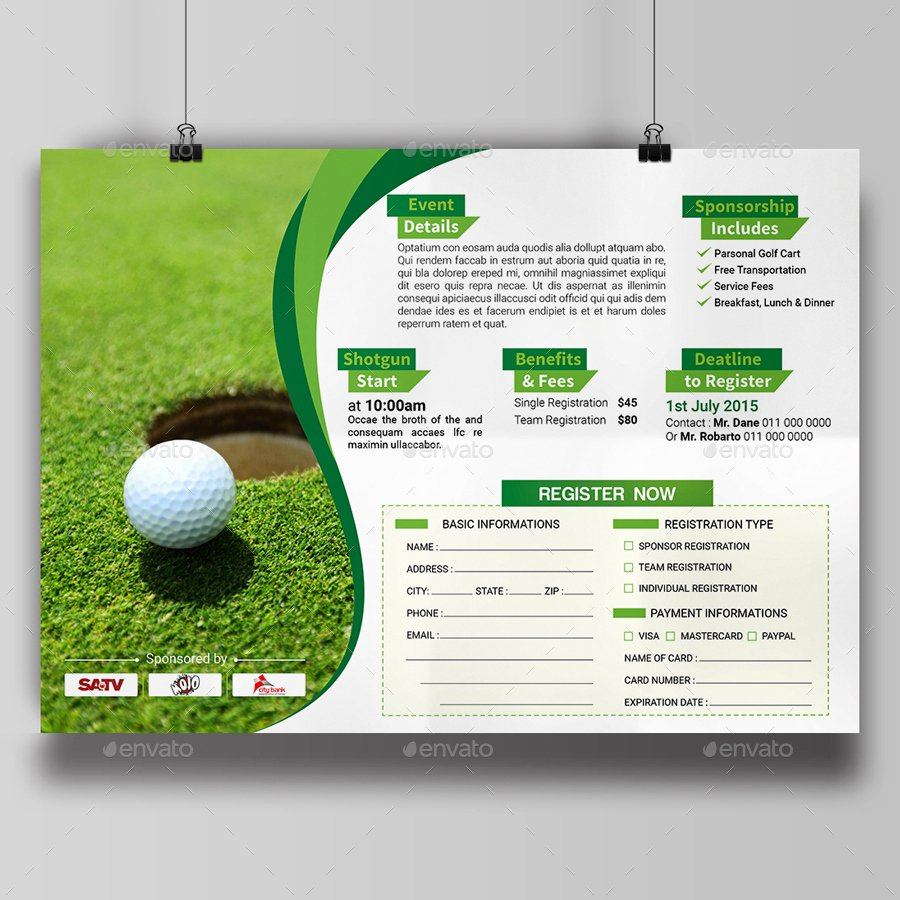 Free Golf tournament Flyers Templates Awesome Golf tournament Invitation Templates
