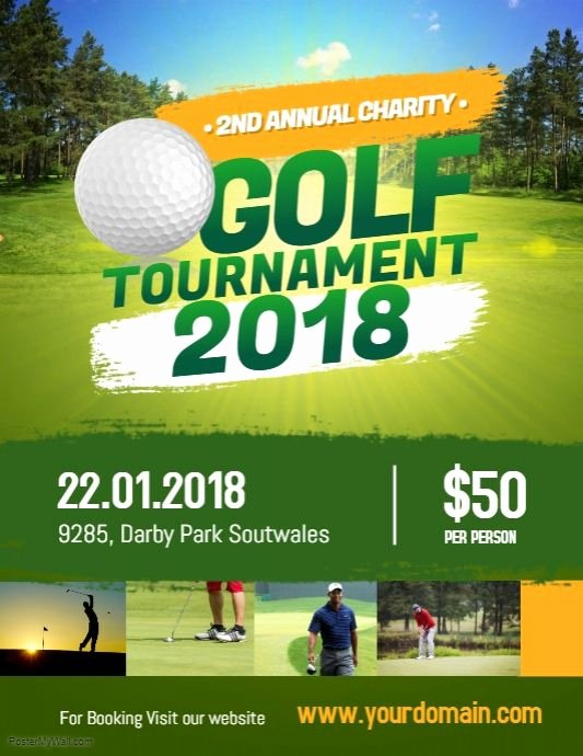 Free Golf tournament Flyers Templates Beautiful Charity Golf tournament Flyer Poster